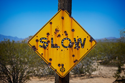 Desert Slow Sign