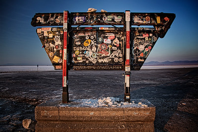 Back of Bonneville Salt Flats Sign