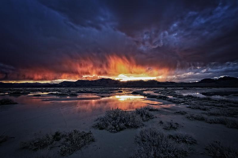 Sun Set Salt Flats