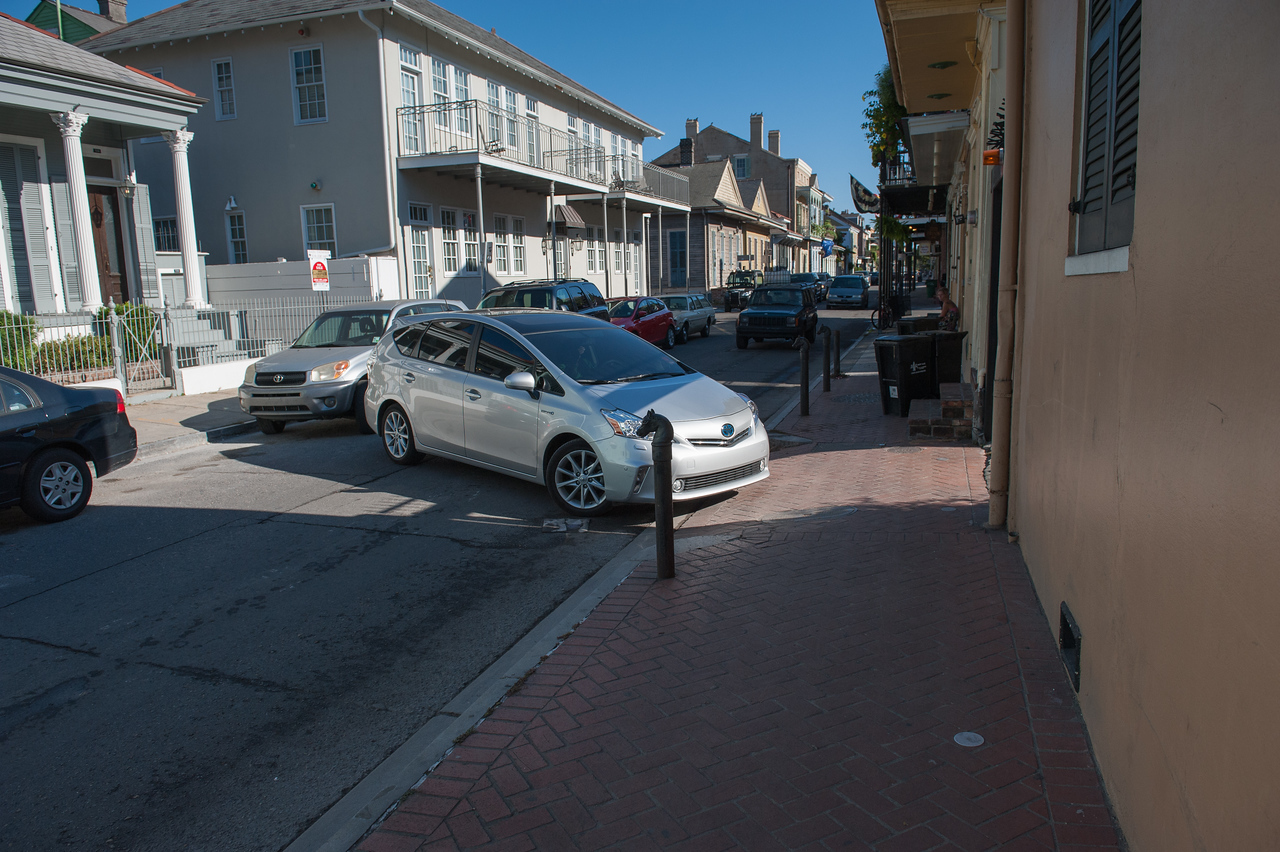Backing you car out of the garage in the French Quarter can be a delicate operation.