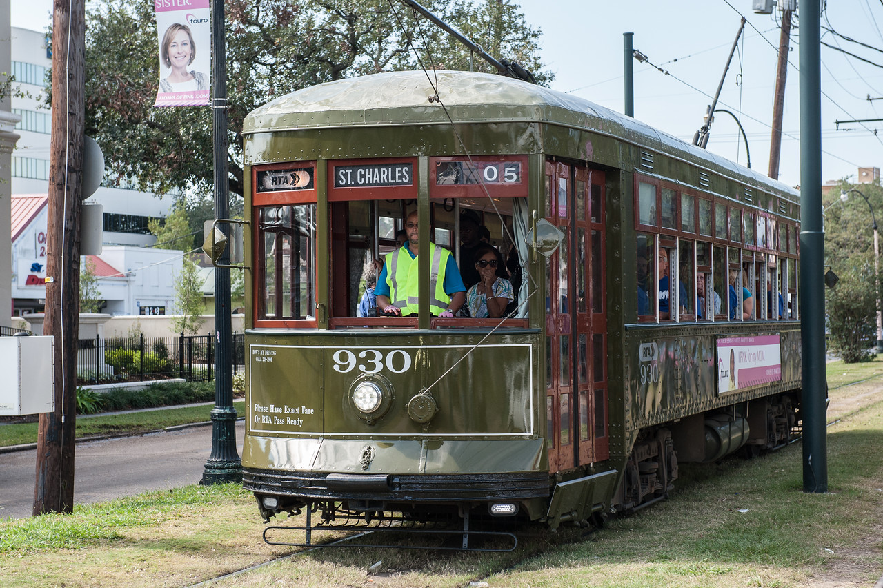 St Charles trolly runs though the historic Garden District, comprised of historic homes, Tulane University, and Loyola University.  A very upscale place today with homes well over 1 million dollars.
