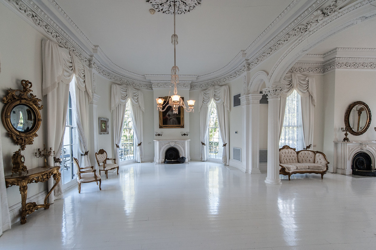 The White Room, painted to reflect candle light during parties and social gatherings.