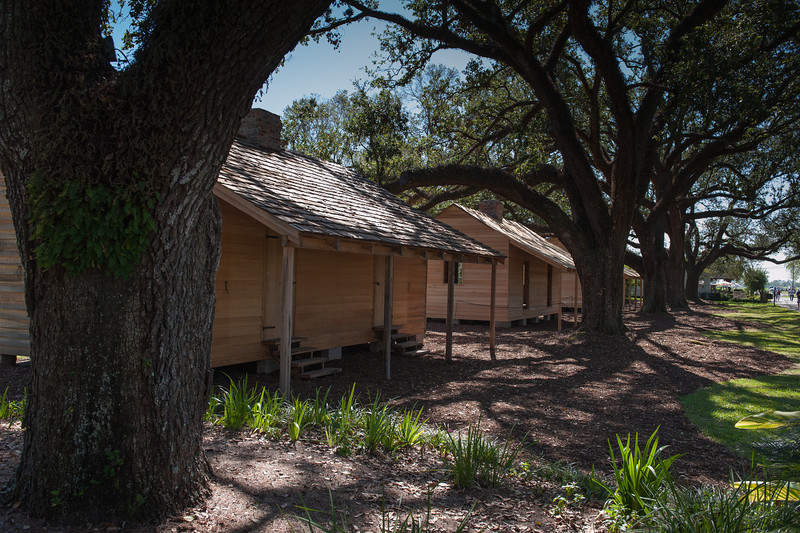 A current project to build replicas of the original slave quarters.