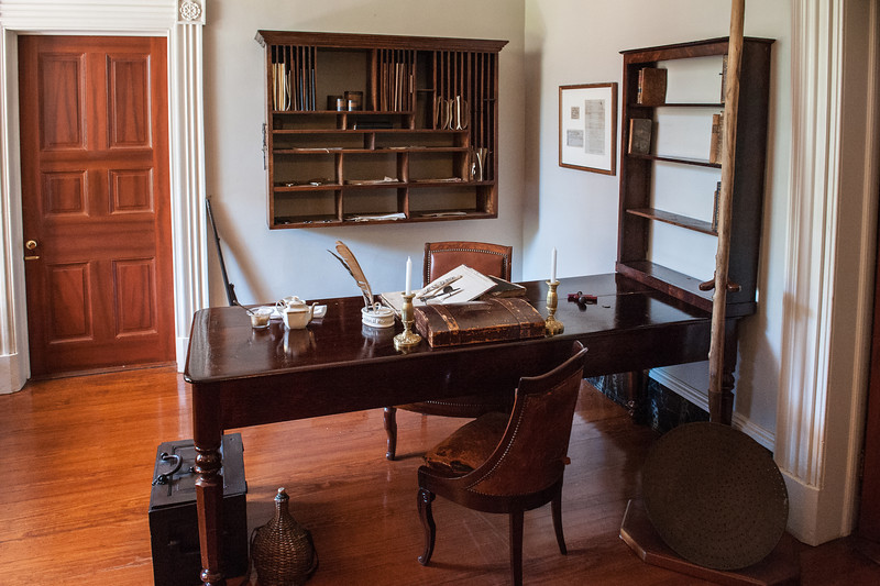 The owner's study and plantation office.