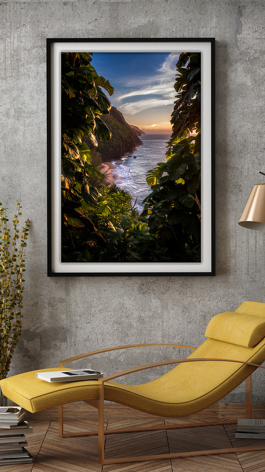 """Hidden Beach"" in Sitting Room"