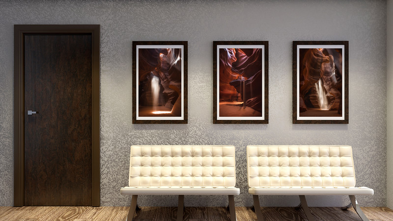 Slot Canyon Collections in Reception Room