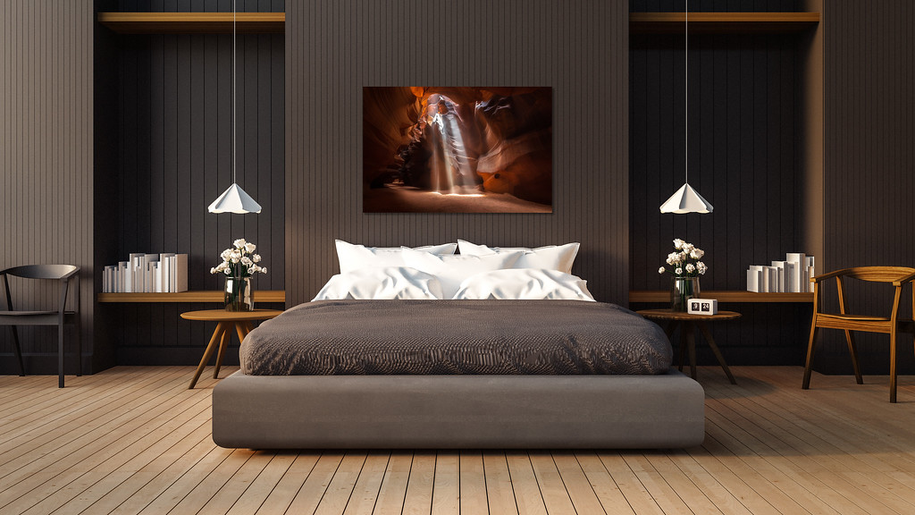 """Trinity"" in Modern Master Bedroom"