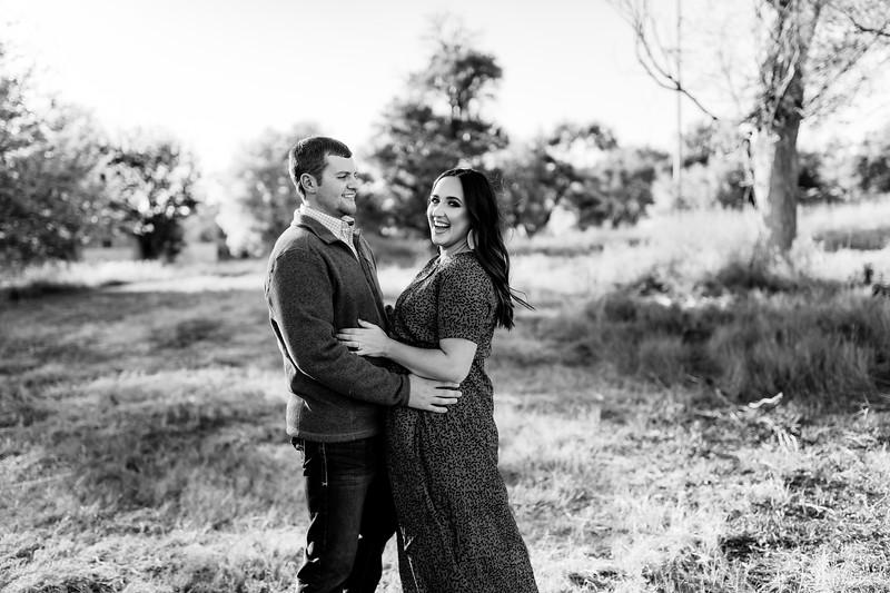 00003©ADHPhotography2020--LaurenRugglesClaytonSkolout--Engagement--October12bw
