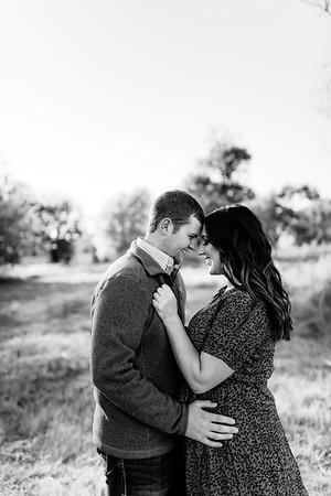 00012©ADHPhotography2020--LaurenRugglesClaytonSkolout--Engagement--October12bw