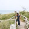 Lake Michigan beach engagement