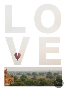 may love find you seeing the world in a different light  bagan myanmar  {independence day, 4 january 2011}  A new Valentine get's mailed out each year & is available for full size art purchase. Contact the studio for 2011's LOVE print for your wall. studio@alyssamiserendino.com