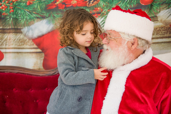 Conway Community Market Photos with Santa