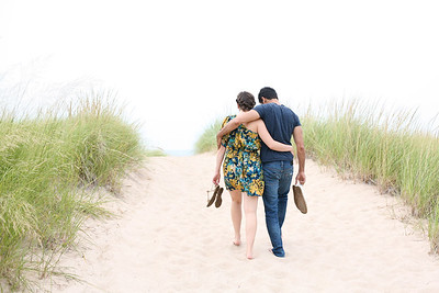 New Buffalo, Michigan engagement photographer