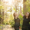 girls high five sunflare
