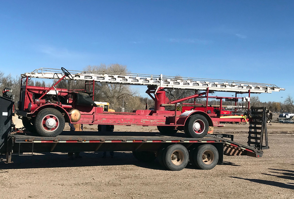 . An antique 1952 hand-built ladder firetruck that used to be in service in Loveland was recently found again and purchased by the Loveland Fire Exhibit. (Photo submitted by LFRA)