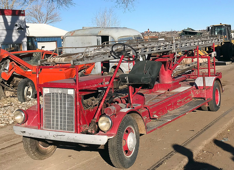 An antique 1952 hand-built ladder firetruck that used to be in service in Loveland was recently found again and purchased by the Loveland Fire Exhibit. (Photo submitted by LFRA)