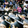 Thompson Valley High School seniors wait to be presented their diplomas at the Budweiser Events Center on Saturday, May 28, 2017. (Michelle Risinger/ Loveland Reporter-Herald)