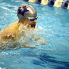Mountain View's Matyi Mayo swims the breaststroke during the 200-yard medley relay during Saturday's finals of the 4A State Swimming Championships at the Air Force Natatorium. The Lions placed 15th.