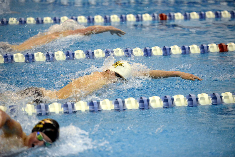 Thompson Valley's Liam Gately comes back for Saturday's 4A state swimming finals as the top seed in both the 200- and 100-yard freestyles after posting All-American consideration times in both events.  (Photo by Mike Brohard/Loveland Reporter-Herald)