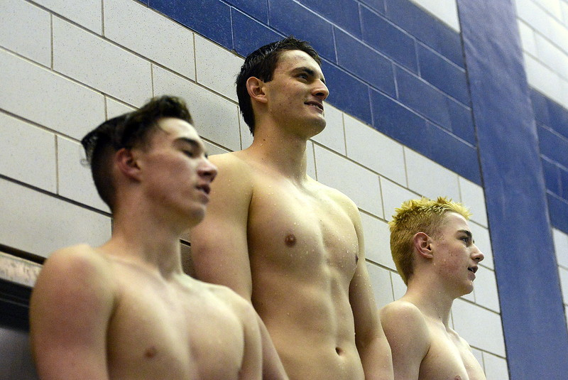 Thompson Valley's Liam Gately had a view from the top all day, setting a pair of classification records in winning the 200- and 100-yard freestyles at the 4A State Swimming Championships on Saturday at the Air Force Natatorium.