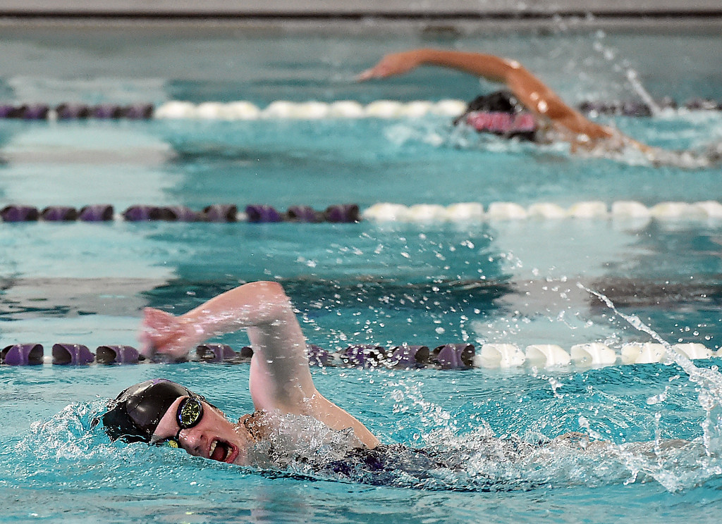 . Mountain View\'s Tasha Reichardt swims the 200 freestyle Wednesday, Dec. 21, 2016, during the Loveland City swim meet at Mountain View High School in Loveland.  (Photo by Jenny Sparks/Loveland Reporter-Herald)
