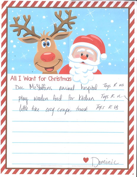 Loveland letters to santa claus 2017 dailycamera all i want for christmasbr doc mcstuffins animal hospital toys r us spiritdancerdesigns Image collections