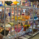 The show room in Dan Daggett's, Daggett Glass Studio. Photos from a photo shoot for Loveland and South Magazine on December 18, 2019.