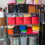 Some of the supplies used by Heather Fortin Rubald to make her art work. Shot in her studio, HFR Designs, in Loveland Colorado for Loveland and South Magazine on December 23, 2019.