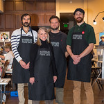 Janeen Schissler, owner of Schissler Academy of Fine Arts in Loveland, CO, and her instructors, (L to R) Samson Kilmer, Thane Gorek, and Cody Winiecki.  Photos from a photo shoot for Loveland and South Magazine on December 18, 2019.
