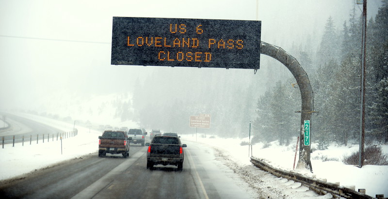 Most of the trip was a breeze, but the Loveland football team's trip to Montrose on Friday was slowed down as the snow grew heavier right before the Eisenhower Tunnel. (Mike Brohard/Loveland Reporter-Herald)
