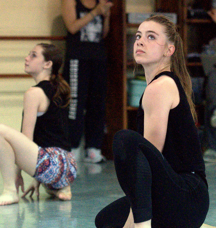 . Loveland\'s Hannah Weinmaster practices a routine Thursday, April 27, 2017 at Dance Dimensions in preparation for a weekend competition. (Cris Tiller / Loveland Reporter-Herald)