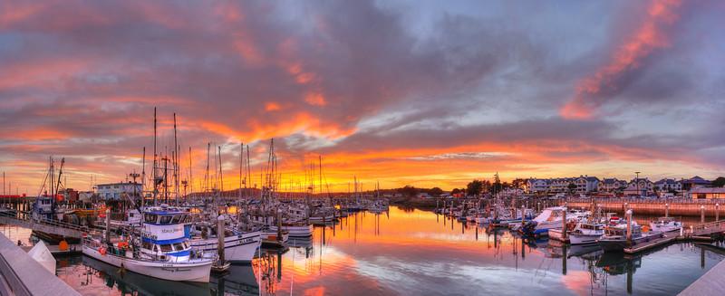 Pillar Point Harbor Sunset #7