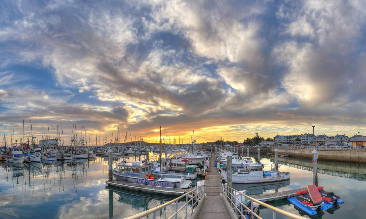 Pillar Point Harbor Sunset #1