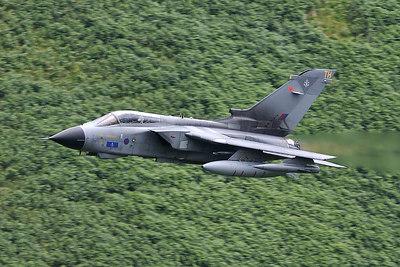 Tornado GR4, wings back, afterburner on!