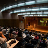 Merlin Tuttle speaking at the Taiwan National Museum of Natural Science in 2016, aided by an interpreter. Conservation