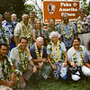 Leadership individuals, including Congressman Bruce Vento, Verne and Marion Read, Paul Cox, and Merlin Tuttle,  celebrating establishment of the National Park of American Samoa in 1997.