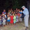 Merlin Tuttle showing bats to children in Madagascar.