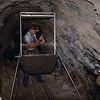 Merlin Tuttle identifying a bat he has just caught in a bat trap he set in an abandoned Arizona mine. Field Work
