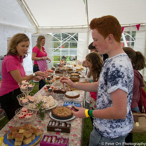 The cakestall doing brisk business