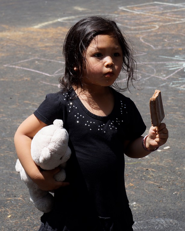 . Nikita Sak,4, of Lowell, Ma. eats a popsicle during Lowell�s Acre Fest Saturday, June 10th, 2017 in Lowell, Ma. LOWELL SUN/KATIE DURKIN
