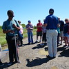 "Clients from the Lowell Association for the Blind took a ""Birding by Ear"" tour at Plum Island last week. The Mass Audubon instructor helped the blind clients use their hearing to learn about the different birds. SUN/Rick Sobey"