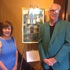 Artists Mary Rose O'Connell of Billerica and Tom Gill of Lowell