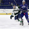 Lowell Catholic High School hockey scored two goals to beat Stoneham High School in the Division 2 North Championship at the Tsongas Center at UMass Lowell on Monday night. LCHS's Connor Doherty celebrates his goal in the second period. SUN/JOHN LOVE