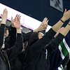 Lowell Catholic High School hockey scored two goals to beat Stoneham High School in the Division 2 North Championship at the Tsongas Center at UMass Lowell on Monday night. LCHS students cheer during the game. SUN/JOHN LOVE
