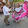 The last day of 2018 Folk Festival was packed with good food and great performances. Jose Pina dances with Karina Cavada to the music of Mariachi Mexico Antiguo band as they perform with the Ballet Folklórico De Mi Tierra dancers from Las Vagas at the corner of John and Merrimack Streets during the festival. LOWELL SUN/JOHN LOVE