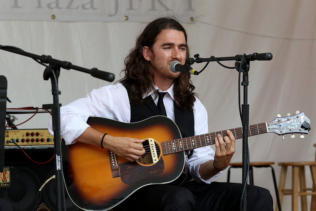 . The last day of 2018 Folk Festival was packed with good food and great performances. Tasos Comanescu performs with the Rebetiko Trio on the JFK Plaza stage at the festival on Sunday. LOWELL SUN/JOHN LOVE