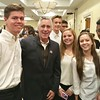 LGH student volunteers with radio and TV personality Billy Costa