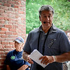 Former state Sen. Steve Panagiotakos leads a tour of the Greek American territory in the Acre. SUN/Caley McGuane