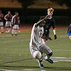Lowell High School soccer played a Div. 1 North Quarter final game against St. John's Prep. on Monday afternoon in Lowell. LHS player Meyele Malango tries to get control of the ball before any St. John's Players did during action in the game. SUN/JOHN LOVE