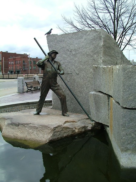 """""""The Worker"""" monument - Lowell, MA"""